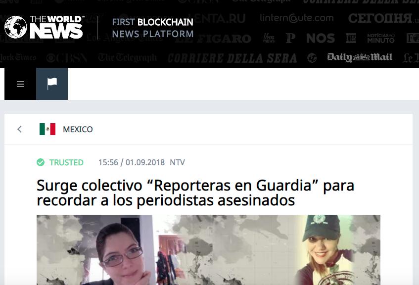 """Surge colectivo """"Reporteras en Guardia"""" para recordar a los periodistas asesinados"""